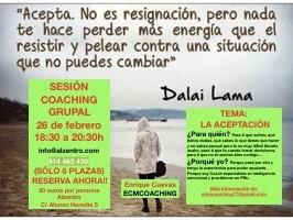 La aceptación. Sesión de Coaching Grupal (Máximo 6 personas)